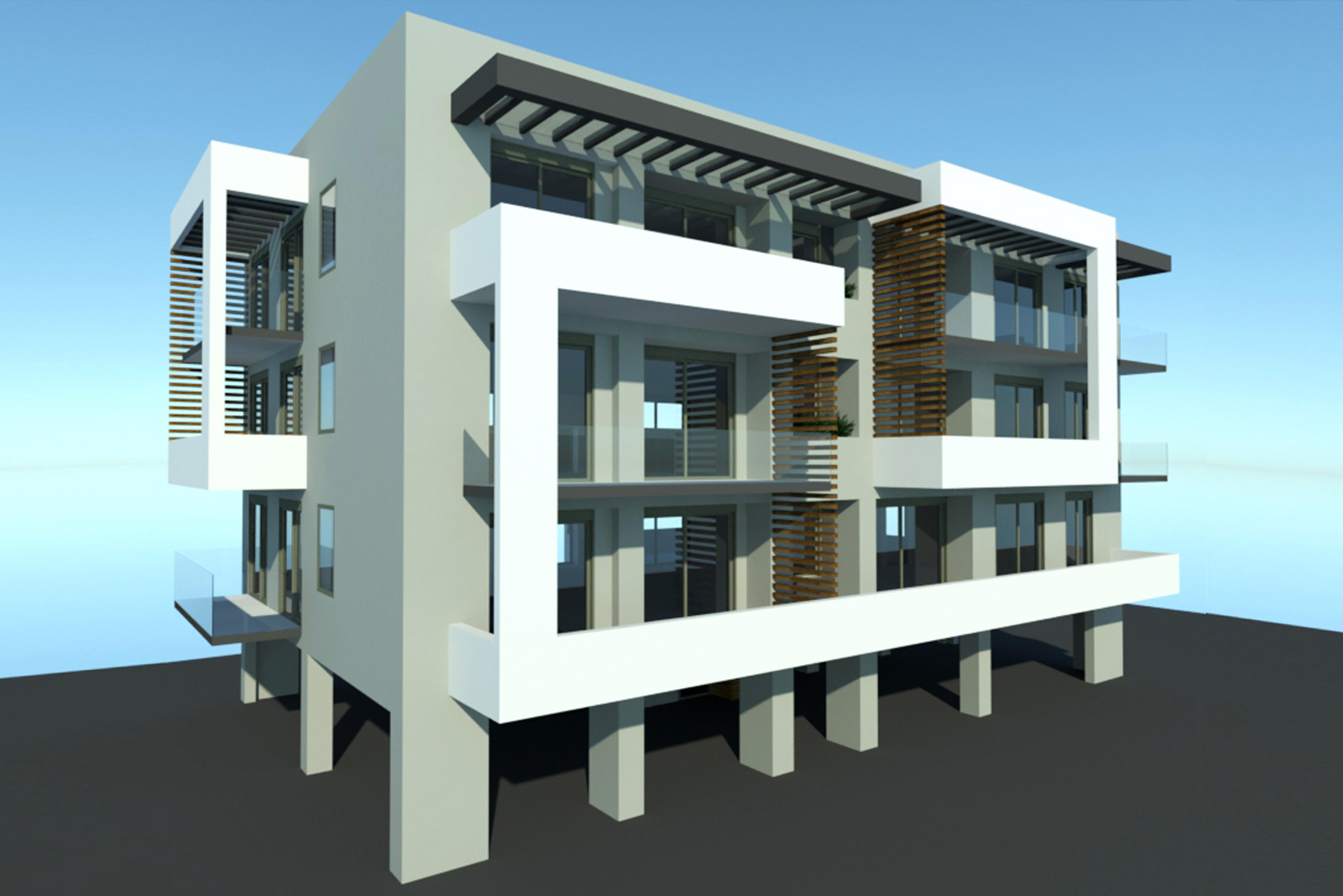 3 STOREY BUILDING WITH PILOTIS – CHANIA – CRETE